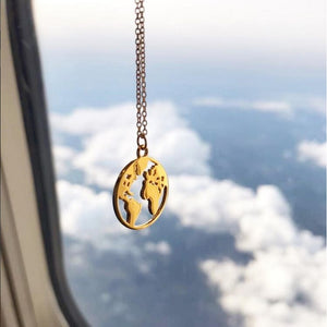 travel the world necklace fashion nova