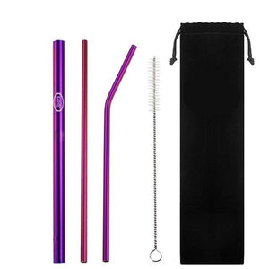 Eco Friendly Reusable Straws - 5 Piece Set