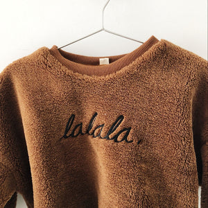 Stylish and warm La La La jumper for kids children's fashion