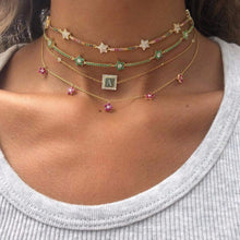 Load image into Gallery viewer, Rainbow Star Choker