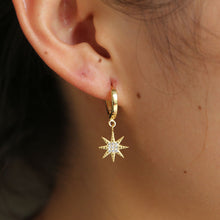 Load image into Gallery viewer, Star and Moon Earrings