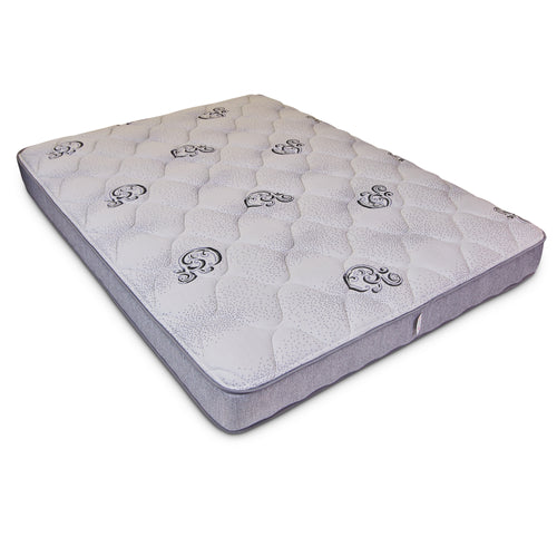 Quilted RV Foam Mattress viewed on blank background