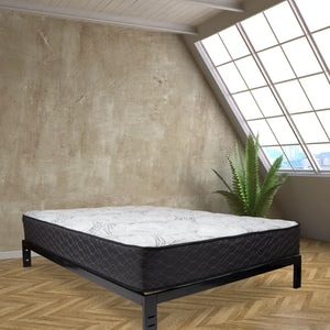 Duo Dusk mattress from Wolf in a bedroom on a platform support