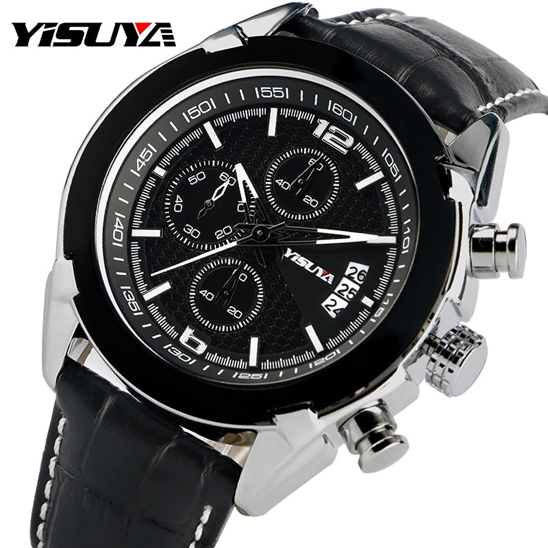YISUYA Fashion Aviator Pilot Military Men Wrist Watch