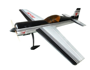 "Flight Model Balsa Wood RC Scale Gas Airplane SU-26 50cc 89"" 3D Aerobatic Black White Color"