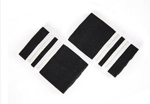 Pilot Silver Line Epaulette Shoulder for Shirt Clothes Flight Crew Aviation