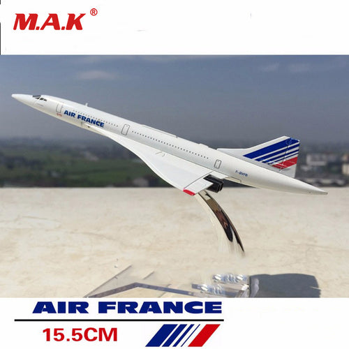 1/400 Scale Concorde Air France Diecast Plane Model Collectible Aircraft