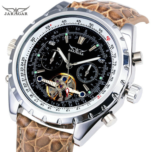 New Aviator Men Automatic Mechanical Wrist Watch