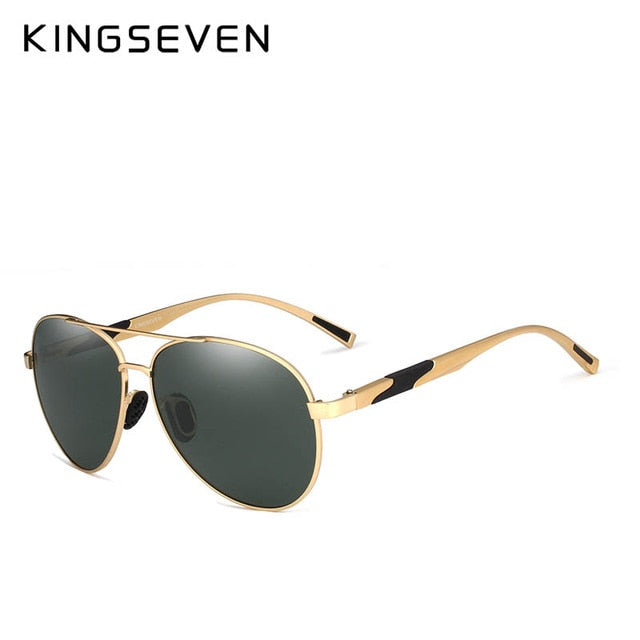 KINGSEVEN Aviation Gun Gradient Sunglasses Brand Men  Polarized HD