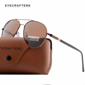 Eyecrafters Aviation Pilot HD Polarized Sunglasses Mens UV400