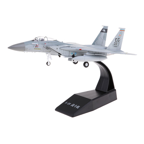 1:100 Scale Alloy US F-15 Airplane Aircraft Fighter Toy Model Diecast Plane Model Toy Home Decoration Gift