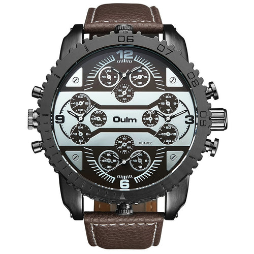 OULM Men's Watches Aviator Military