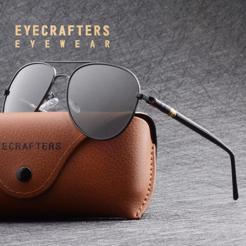 Eyecrafters Aviation Pilot HD Polarized Sunglasses Mens Classic Brand