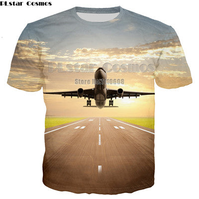 Aircraft Man T Shirt Casual unisex