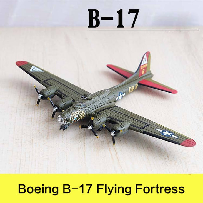 Military Alloy Airplane Model Bombing Plane Boeing B-17 Flying Fortress Second World War Flighter Diecast Scale Model Toys 1:200
