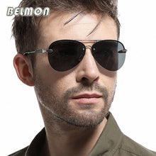 Load image into Gallery viewer, Belmon Pilot Polarized Sunglasses Men  Aviation Sun Glasses For Male UV400