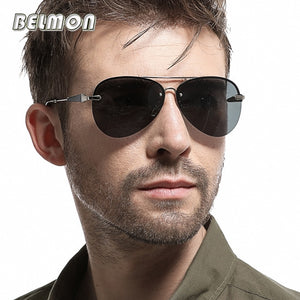Belmon Pilot Polarized Sunglasses Men  Aviation Sun Glasses For Male UV400