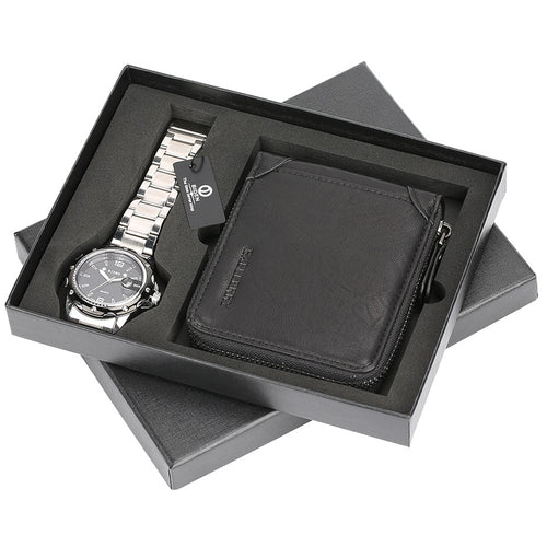 Relogio Aviator Watch Stainless Steel Quartz Wrist Watch
