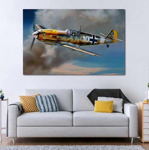 WW2 KC199 living room home wall modern art decor wood frame fabric posters