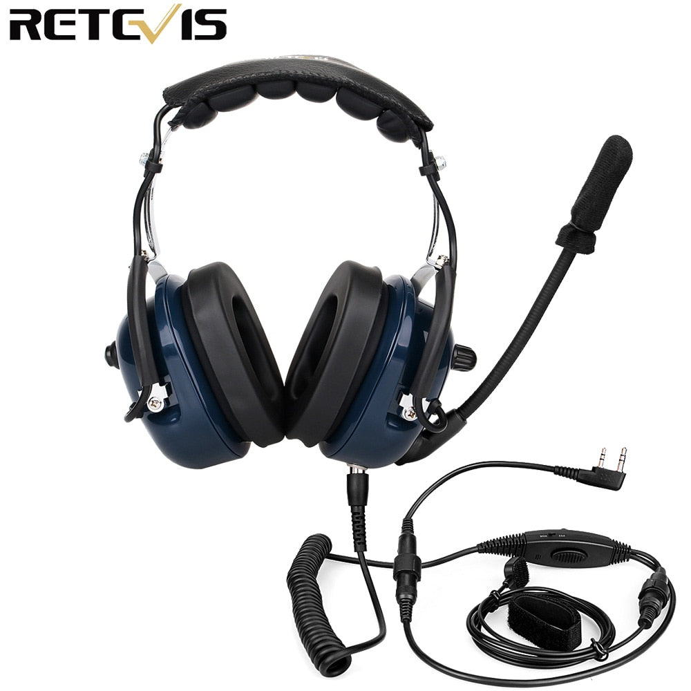 Retevis Noise Reduction Aviation MIC Headset