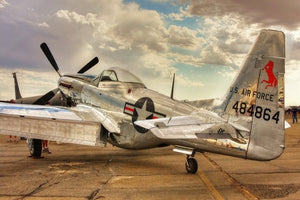 classic P 51 mustang propeller airplane Living room home wall modern art decor posters