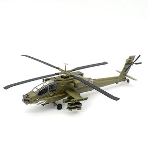 pre-built 1:72 scale AH-64 helicopter AH-64A hobby collectible