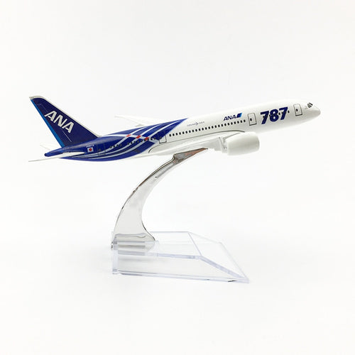 1/400 Scale Aircraft Boeing 787 ANA Japan All Nippon Airways 16cm Alloy Plane B787 Model Toys Children Kids Gift for Collection
