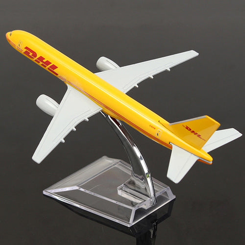 1/400 Scale Aircraft B757 DHL Cargo 16cm Alloy Plane Boeing 757 Model Toys Children Kids Gift for Collection