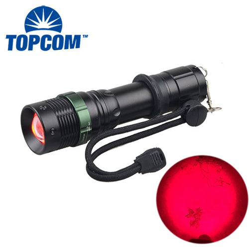 Astronomy / Aviation / Night Vision 625NM Powerful Rechargeable Emergency  Red LED Light Flashlight