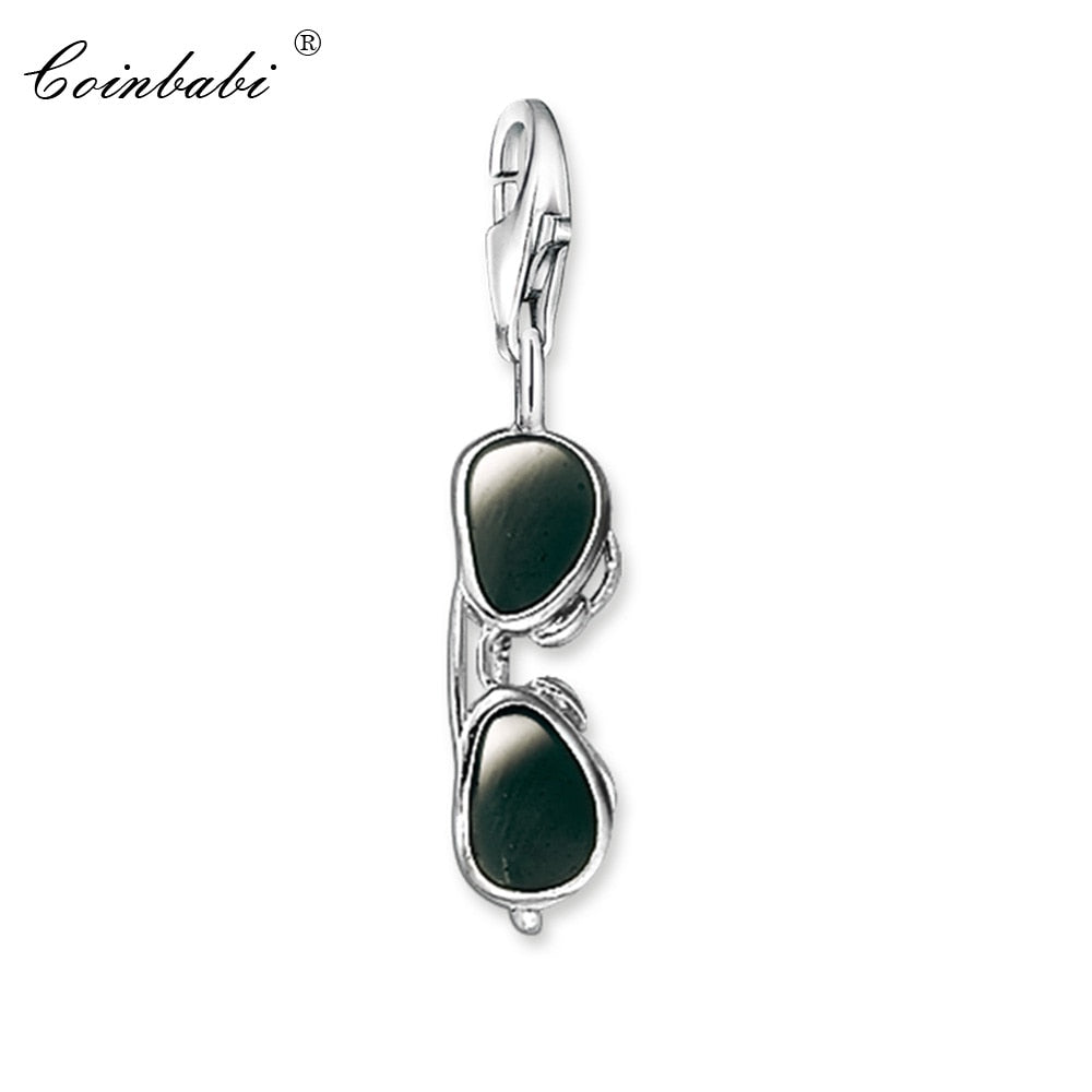 Charm Pendant Aviator Sunglasses Real Authentic 925 Sterling Silver