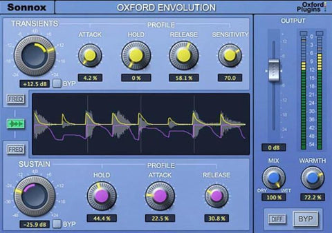 Oxford Envolution – A Frequency-dependent Envelope Shaping Plug-in