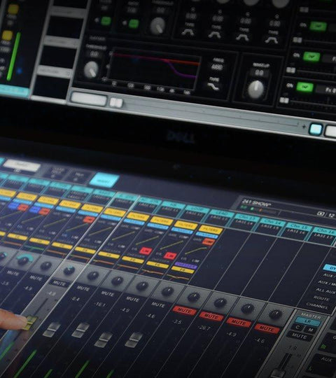Waves Plugins and Waves eMotion LV1 Live Mixer Broadcast