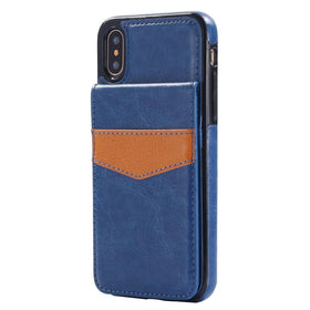 Leather Flip Wallet Case - iPhone X/Xs