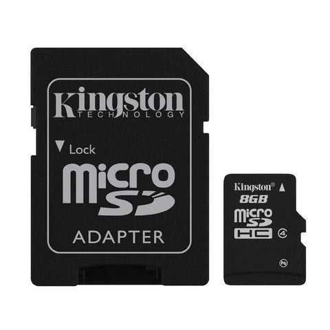 16 GB Micro SD Memory Card with Adapter (Class 4) - Kingston