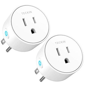 Smart Plug Mini WiFi Outlet Wireless Socket Compatible with Alexa, Echo, Google Home and IFTTT, TECKIN Smart Plug WiFi Socket with Timer Function, No Hub Required, White (2 Pack), Modules