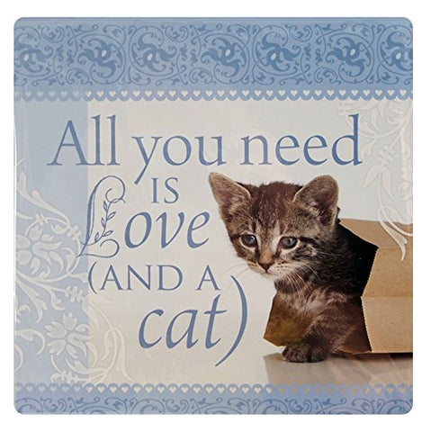 Kitchen Towels-All you need is love and a cat
