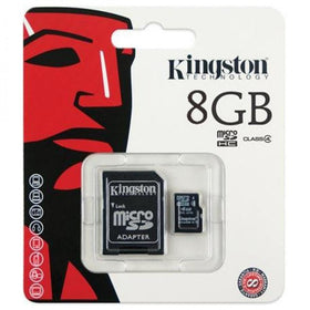 8 GB Micro SD Memory Card with Adapter (Class 4) - Kingston