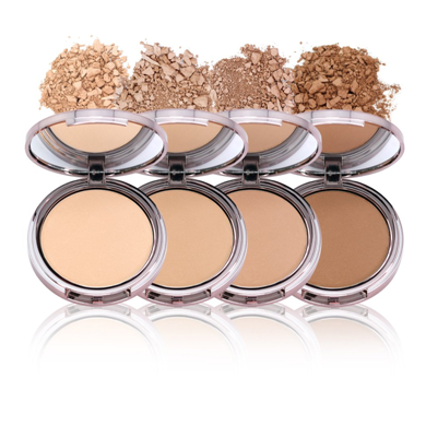 Shades of face powder to keep the makeup in place