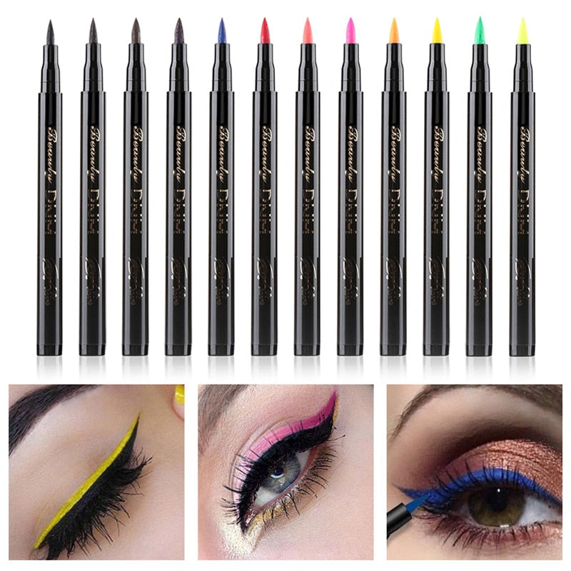 Liquid Eyeliner Pen Long-lasting Waterproof Colorful - makeupwinner