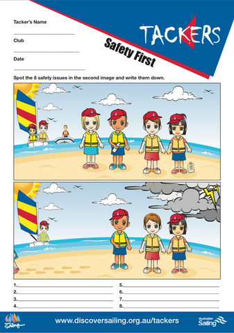 Safety Spot the Difference Activity Sheet