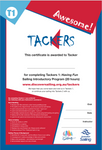 Tackers 1 Certificate