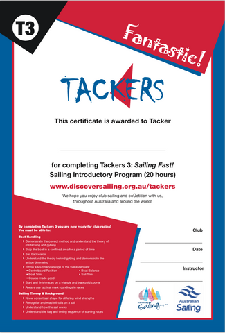 Tackers 3 Certificate