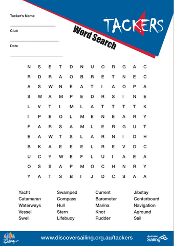 Word Search Activity Sheet