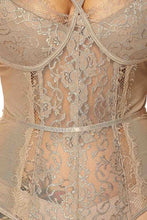 Lace Bodysuit (Taupe)