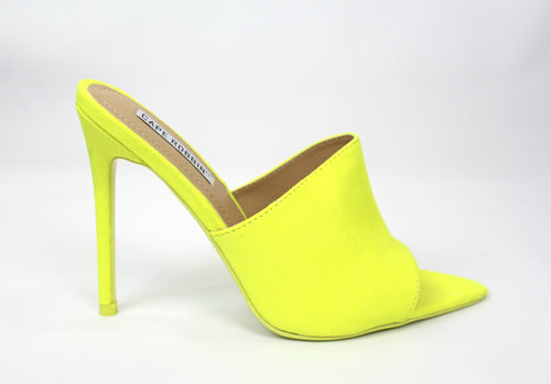 Cece Mule Heel Sandals (Lime)
