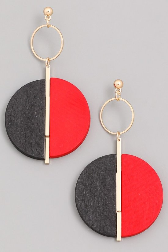 Split Personality Earrings (Red)