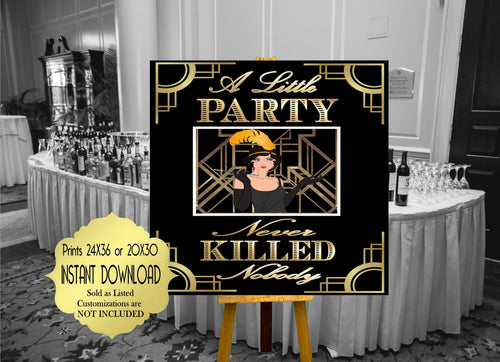 A Little Party Never Killed Nobody Roaring twenties party decor Great Gatsby party decor. Art deco, Gatsby wedding decor, Gatsby Collection
