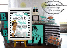 Load image into Gallery viewer, DIGITAL FILE Baby and CO, Bride and Co, Party Hashtag, Babyshower, Bridal Shower, Welcome Sign
