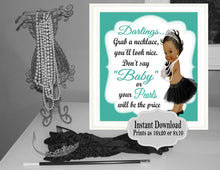 Load image into Gallery viewer, DIGITAL FILE Grab a Necklace Don't Say Baby,  Baby and CO, Baby Shower, Welcome Sign, Baby Shower Games