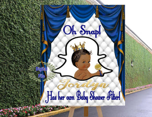 DIGITAL FILE  Geofilter Sign Royal Baby Welcome Poster, Royal Baby Shower Decor, A Prince is On It's Way RB-005